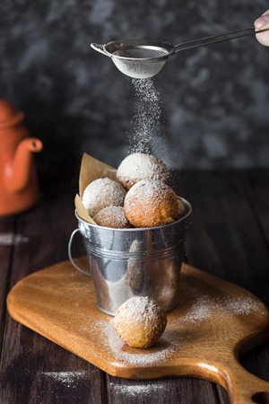 Cottage cheese fried donuts Stock Photo