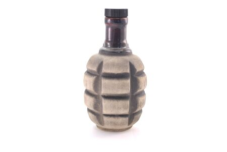 frag: clay bottle in the form of grenades without handle