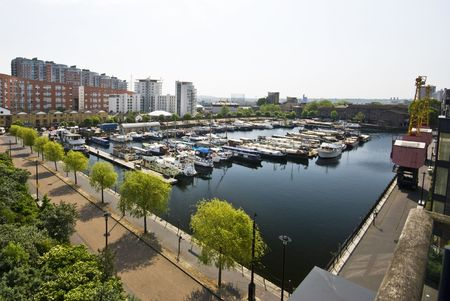 the aurora: dock and marina views on isle of dogs london