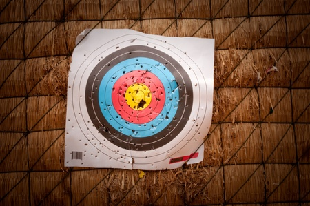 Archery targets are used