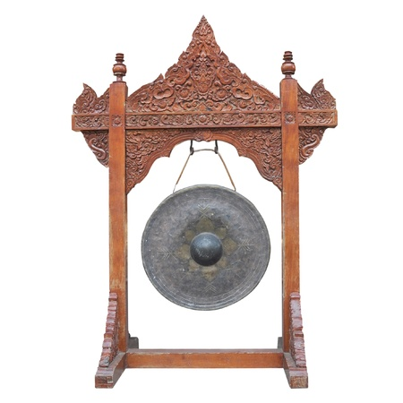 Gong a white background  photo