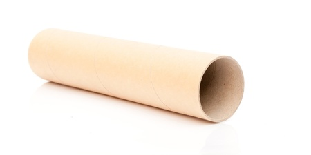 Paper tube on a white background. Stock Photo - 13024522