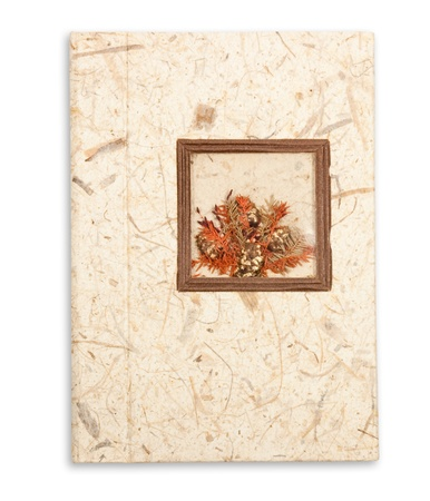 Notebook with flowers. photo