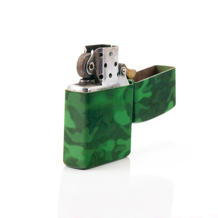 Lighter green on a white background  photo