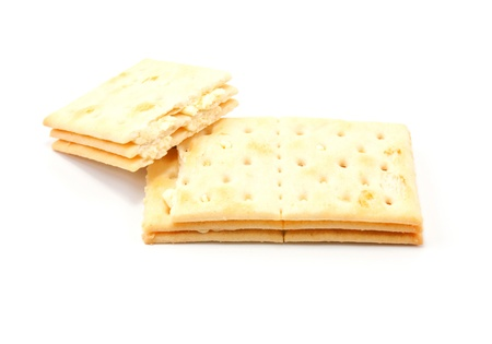 Cream filling on white bread  photo