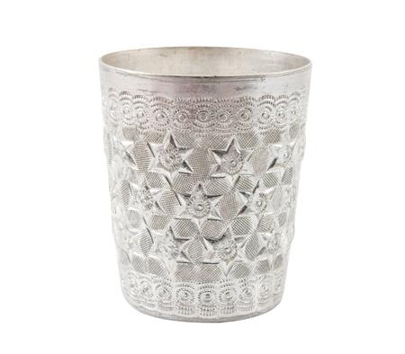 Stainless mug on a white background  photo