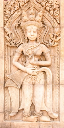 Carved sandstone  photo