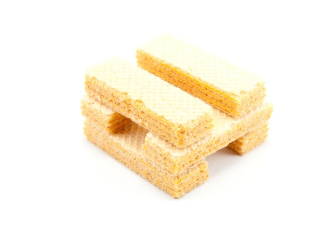 Place biscuits on a white background  Stock Photo - 13092521