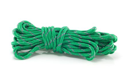 Green rope isolated on a white background Stock Photo - 15230587