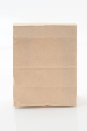 Brown paper bag from a white background  Stock Photo - 15230547