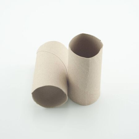 Paper tube on a white background  photo