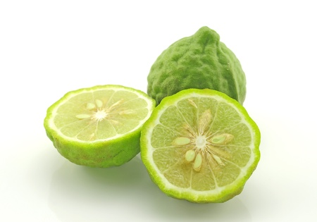 asian produce: Lime isolated on a white background  Stock Photo