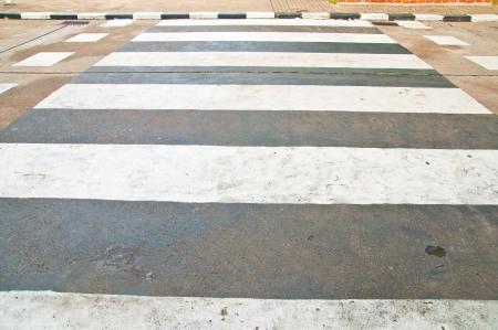 white on asphalt crosswalks
