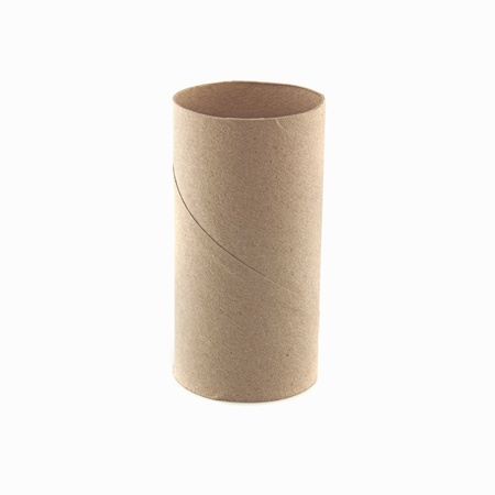 Paper tube on a white background. Stock Photo - 15431723