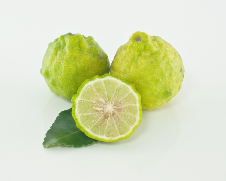 Kaffir lime isolate on white background