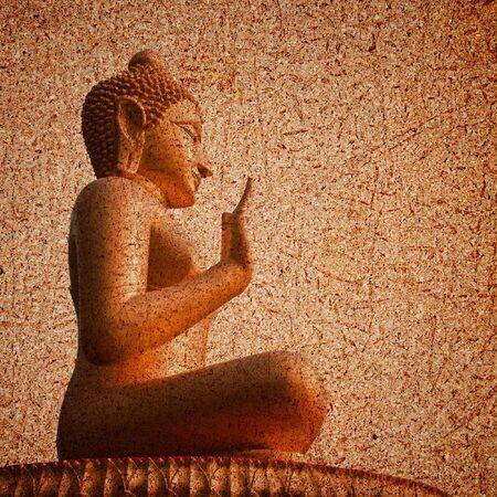 Background Buddha statue.  Stock Photo