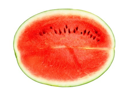 Watermelon red on a white background.