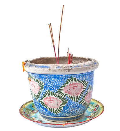 For embroidery a ritual incense burner. Stock Photo