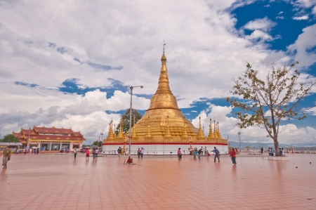 travel features: Myanmar November 4  Choi Da Royal sights pagoda models  Tachilek province 2012 on November 4, 2012 in Myanmar