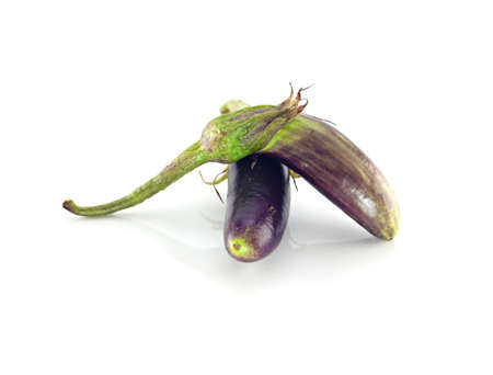Eggplant color isolated on white.