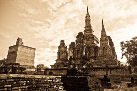 Pagoda Temple in Sukhothai, Thailand.