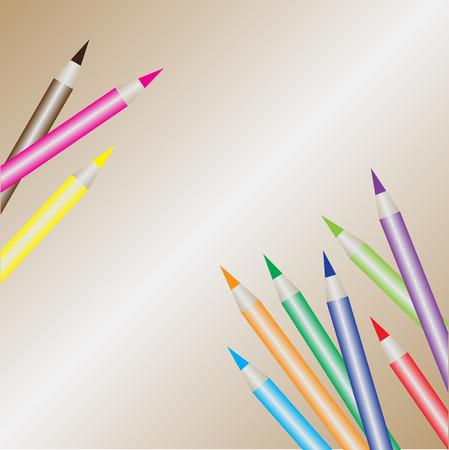 colored pencils: colored pencils eps10