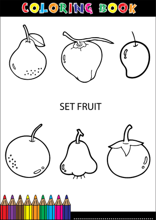 Set of Fruit doodle drawings vector eps10 Vector