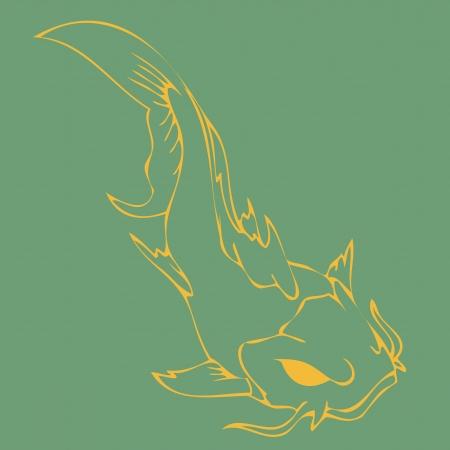 replica: golden fish.eps10