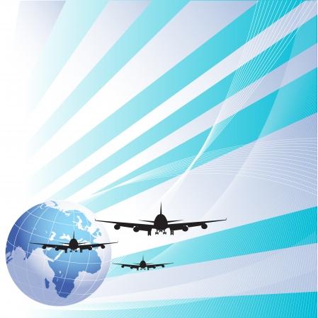 air travel: Viaggi aerei concept.eps10 Vettoriali