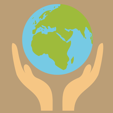 earth globe in hand  Vector
