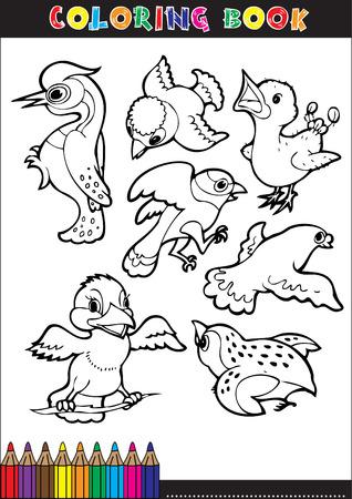 Cartoon Färbung Buchillustrationen. Serie Für Junge Kinder ...