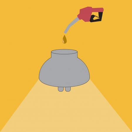 Fueling the light bulbs to energy.eps10 Vector