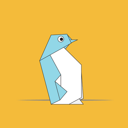 Vector Origami Penguin.eps10 Banque d'images - 23102343