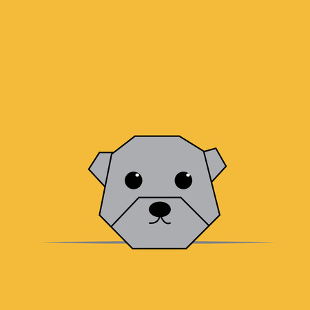 Origami Dog.eps10 Vector