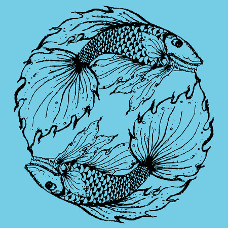 pices: Stylised fish illustration. Illustration