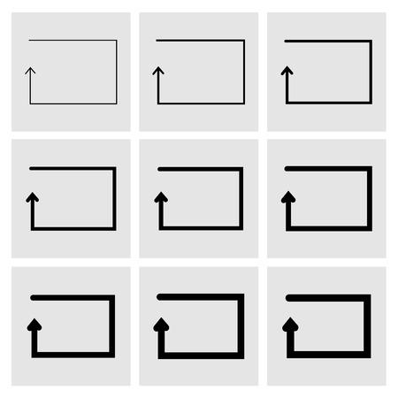 quadrati astratti: Piazza estratto frecce.
