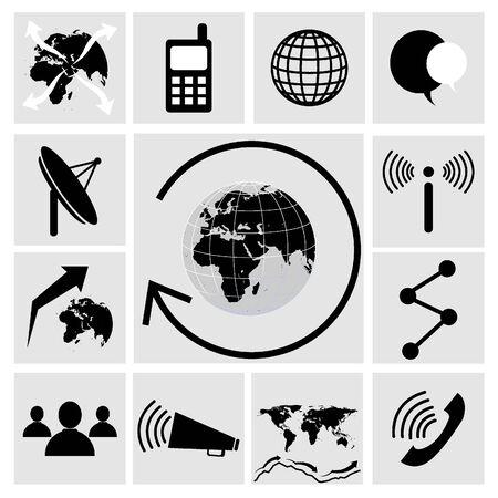 dialog baloon: Communication icons Illustration