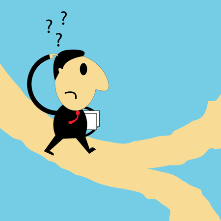 business decision: Business decision point. Vector illustration.