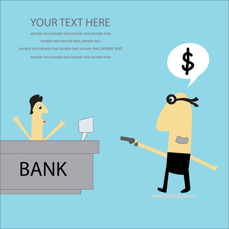 terrorized: Bank robber. Illustration