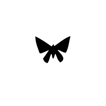 butterfly isolated: Butterfly silhouette isolated on a white background.  Illustration