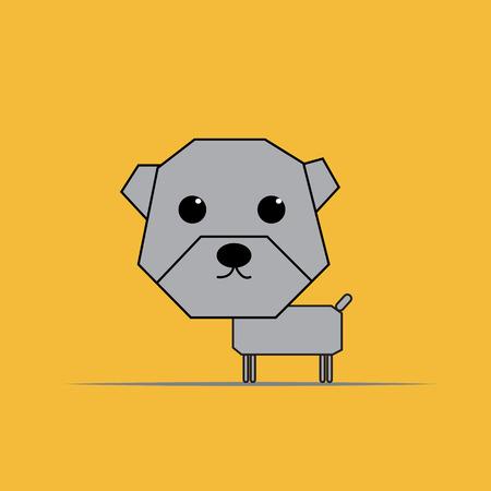 dog bite: Origami Dog.