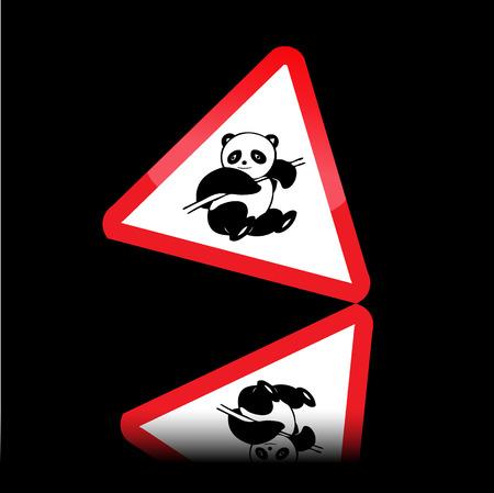 Panda warning sign