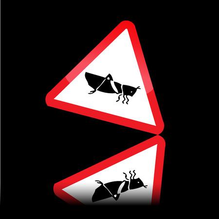 panneaux danger: Signes de danger Grasshopper