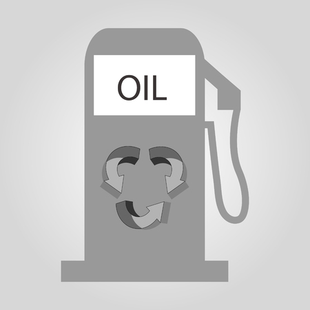 raw material: gas station  Illustration