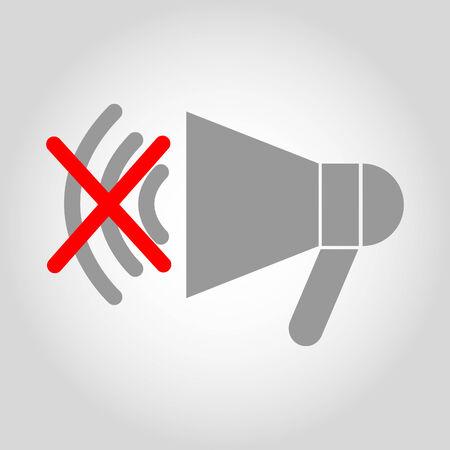 loud speaker: No loud speaker icon Illustration