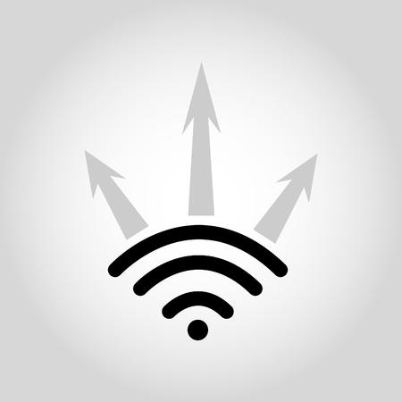 point chaud: Symbole sans fil