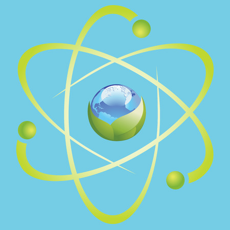 planisphere: Icon Planet Earth Arrow.
