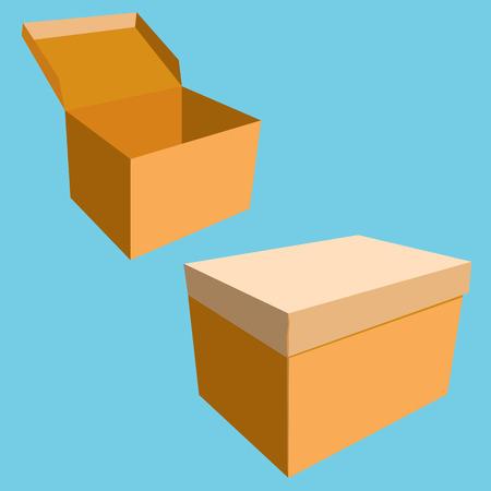 brown box: Scatola marrone.