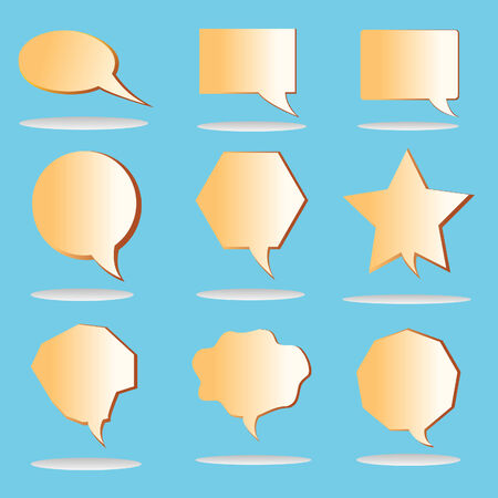 new retro speech bubbles signs collection Vector Illustration