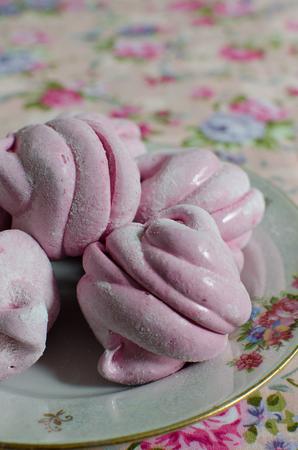 blackcurrant: homemade blackcurrant marshmallow on agar-agar